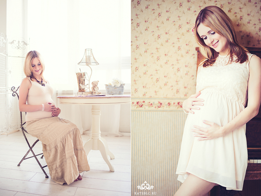 Фотосессия для будующих мам в студии Москва