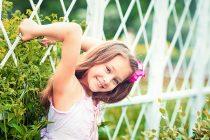 детская фотосессия в розарии