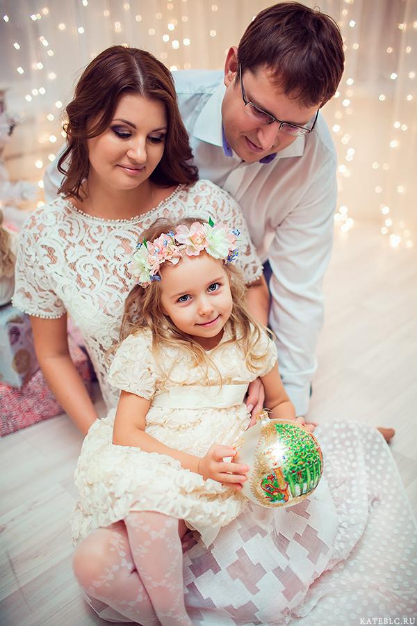 Семейная фотосессия на новый год