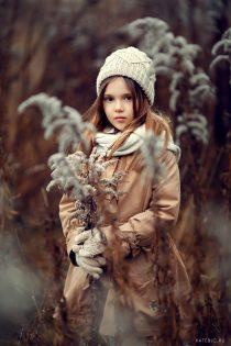 осенний портрет девочки. Фотосессия в ноябре. Фотограф Катрин Белоцерковская