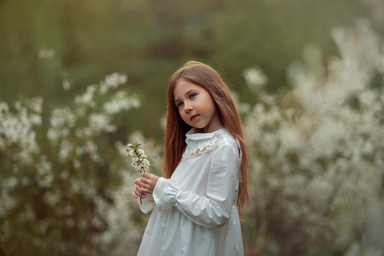 фотосессия цветения в парке в москве