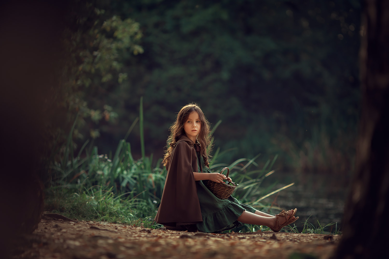 Фотосессия для девочки на природе