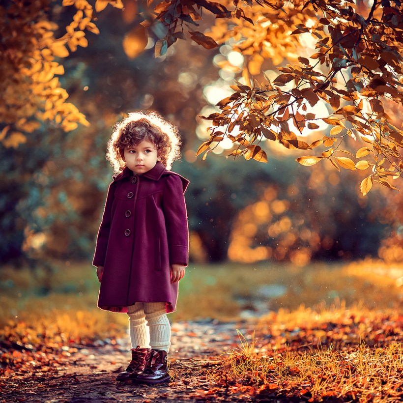 осенняя отосессия для девочки на природе. фотограф в москве катрин белоцерковская