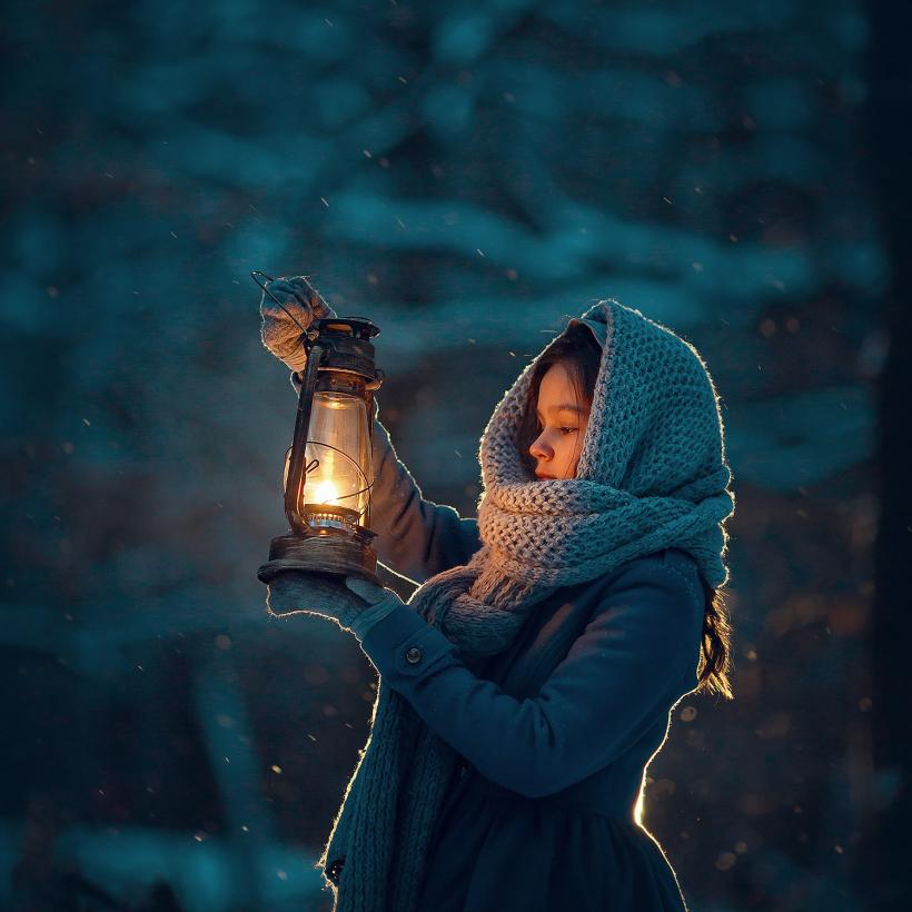 зимняя фотосессия на природе