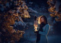 Зимняя волшебная фотосессия на природе