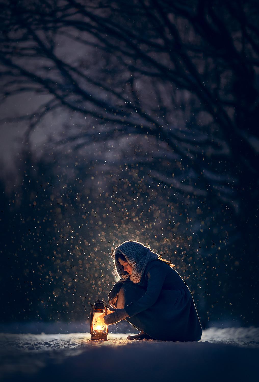 Фотосессия в снегопад. Фотограф Катрин Белоцерковская