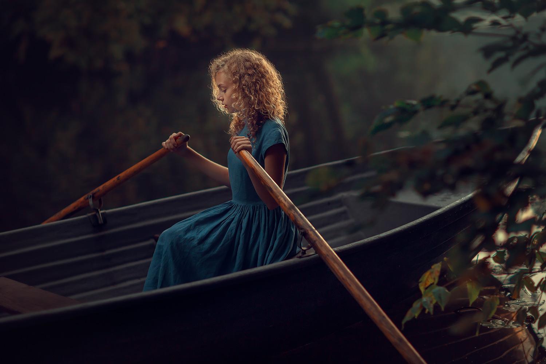 Фотосессия в лодке. Детский и семейный фотограф Катрин Белоцерковская