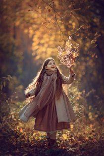 фотосессия для девочки в лесу