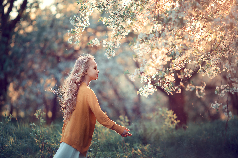 фотосессии цветения в коломенском для девочек