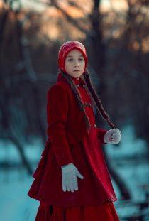 портретная фотосессия для девочки