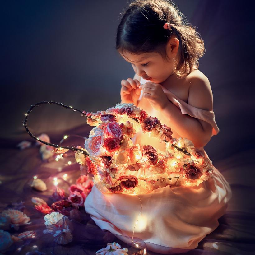 девочка с фонарем волшебная фотосессия