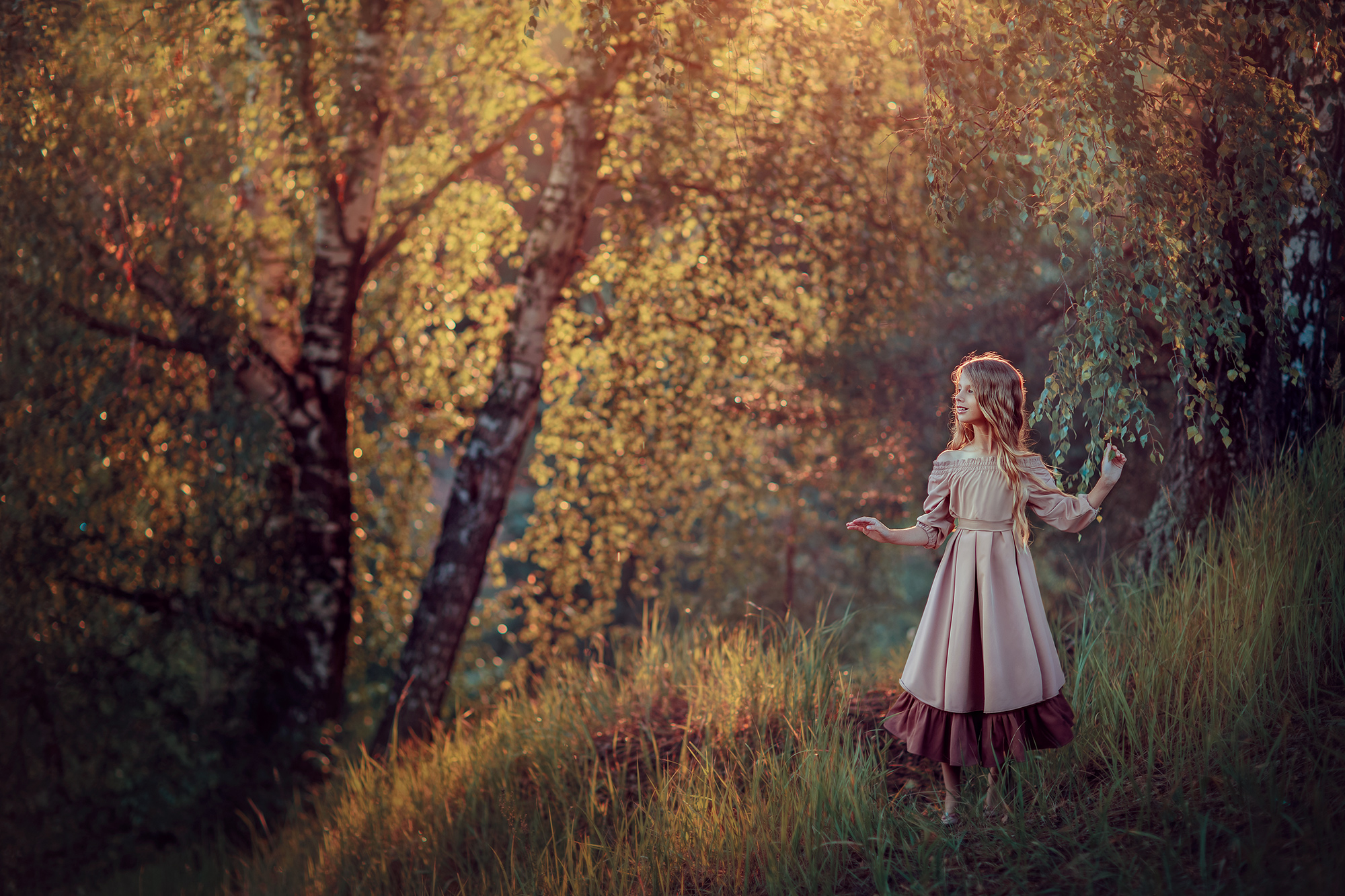 Волшебная фотосессия в лесу для девочки 9 лет