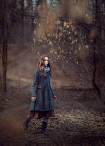 Портретная фотосессия для девочки в парке