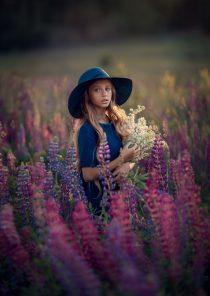 фотосессия в поле для девочки