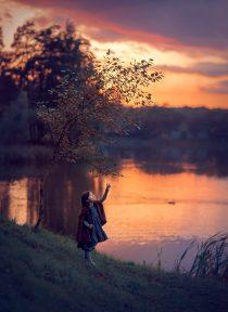 фотосессия для девочки на закате