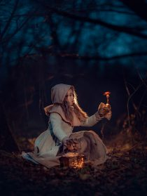Фотосессия девочка с грибами