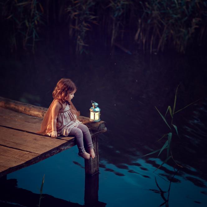 вечерняя фотосессия у воды