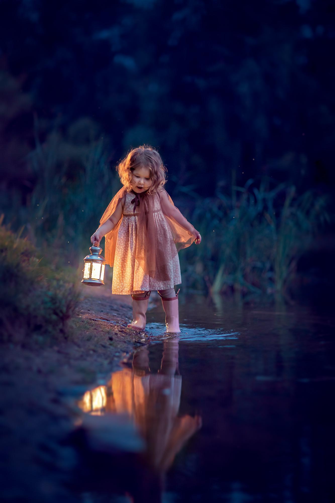 вечерняя фотосессия для детей