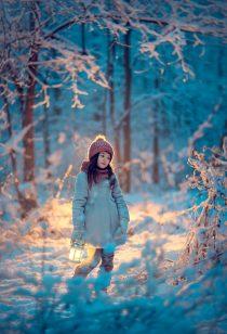 детская фотосессия зимой в парке