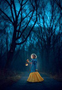 вечерняя фотосессия в лесу