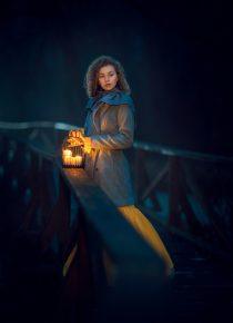 вечерняя фотосессия со свечами