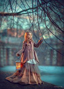 девочка с фонариков фотосессия в парке