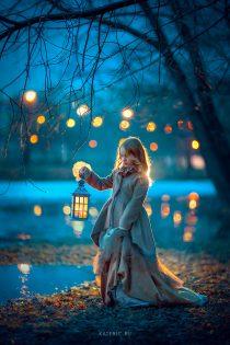 вечерняя фотосессия для девочки