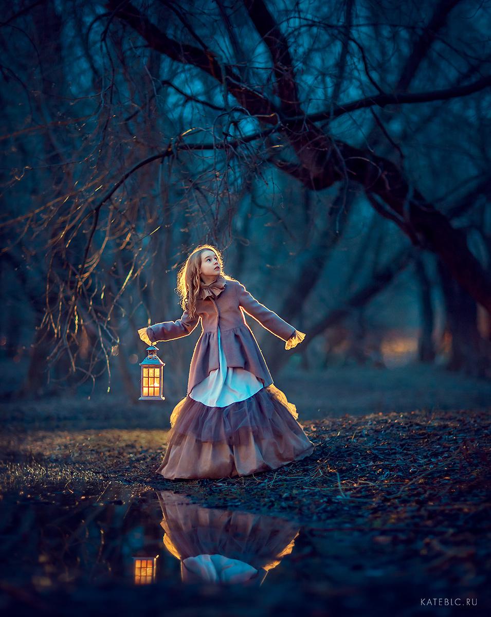 вечерняя фотосессия в парке