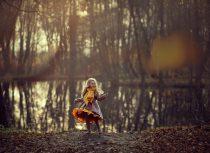фотосессия осенью в лесу