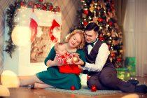 новогодняя фотосессия для семьи с малышом
