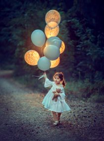 девочка с шариками фотосессия