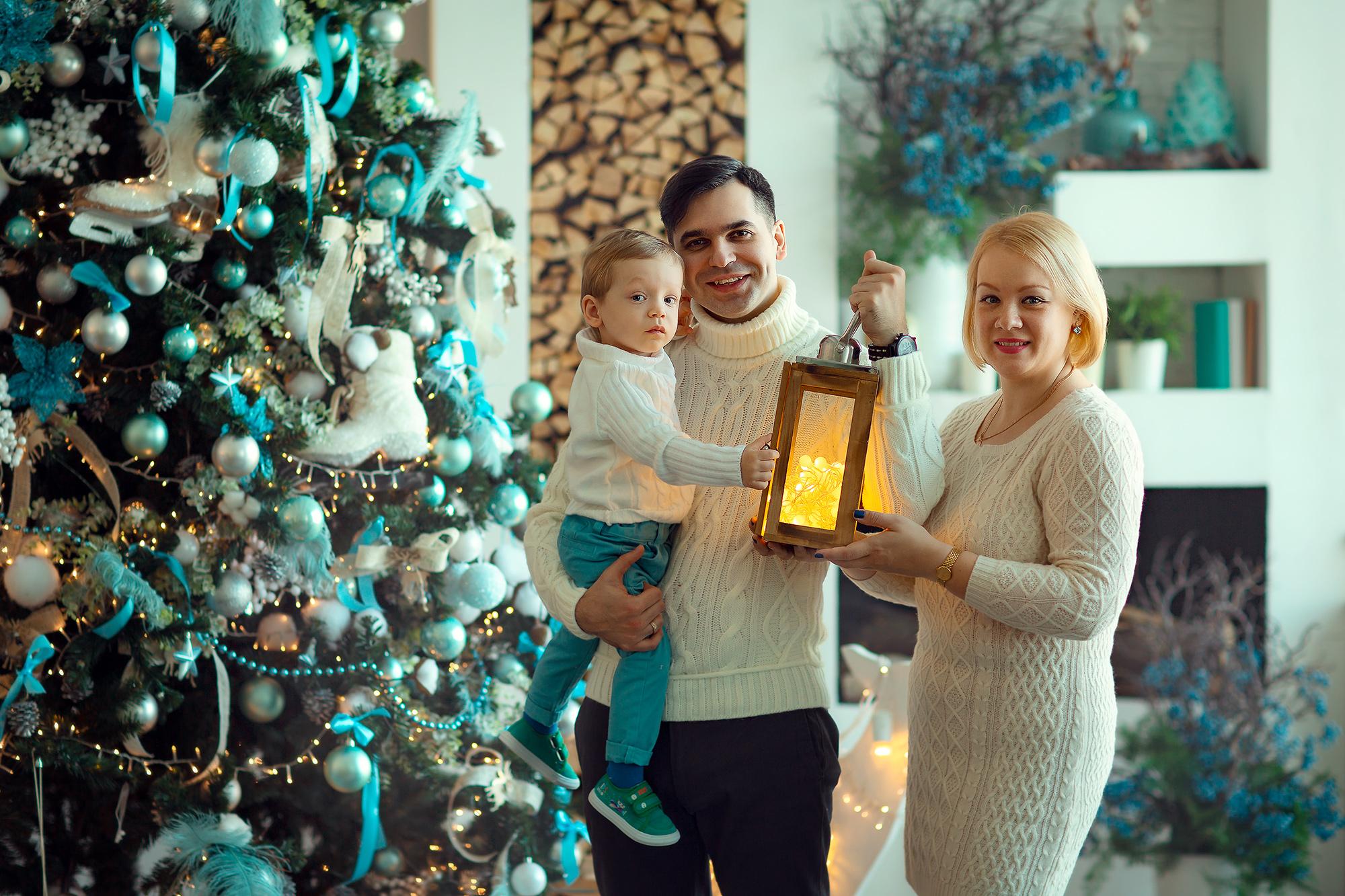 новогодняя фотосессия для семьи с детьми