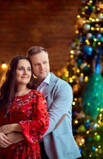 новогодняя фотосессия в стуии москва