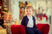 детская фотосессия в студии на новвый год