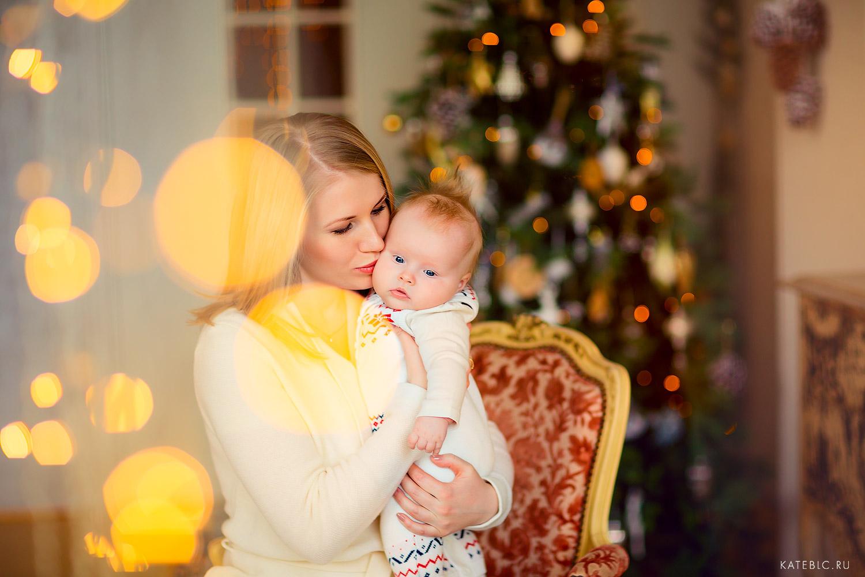 новогодняя фотосессия дл малыша до года