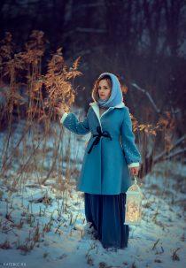 необычная фотосессия в парке зимой