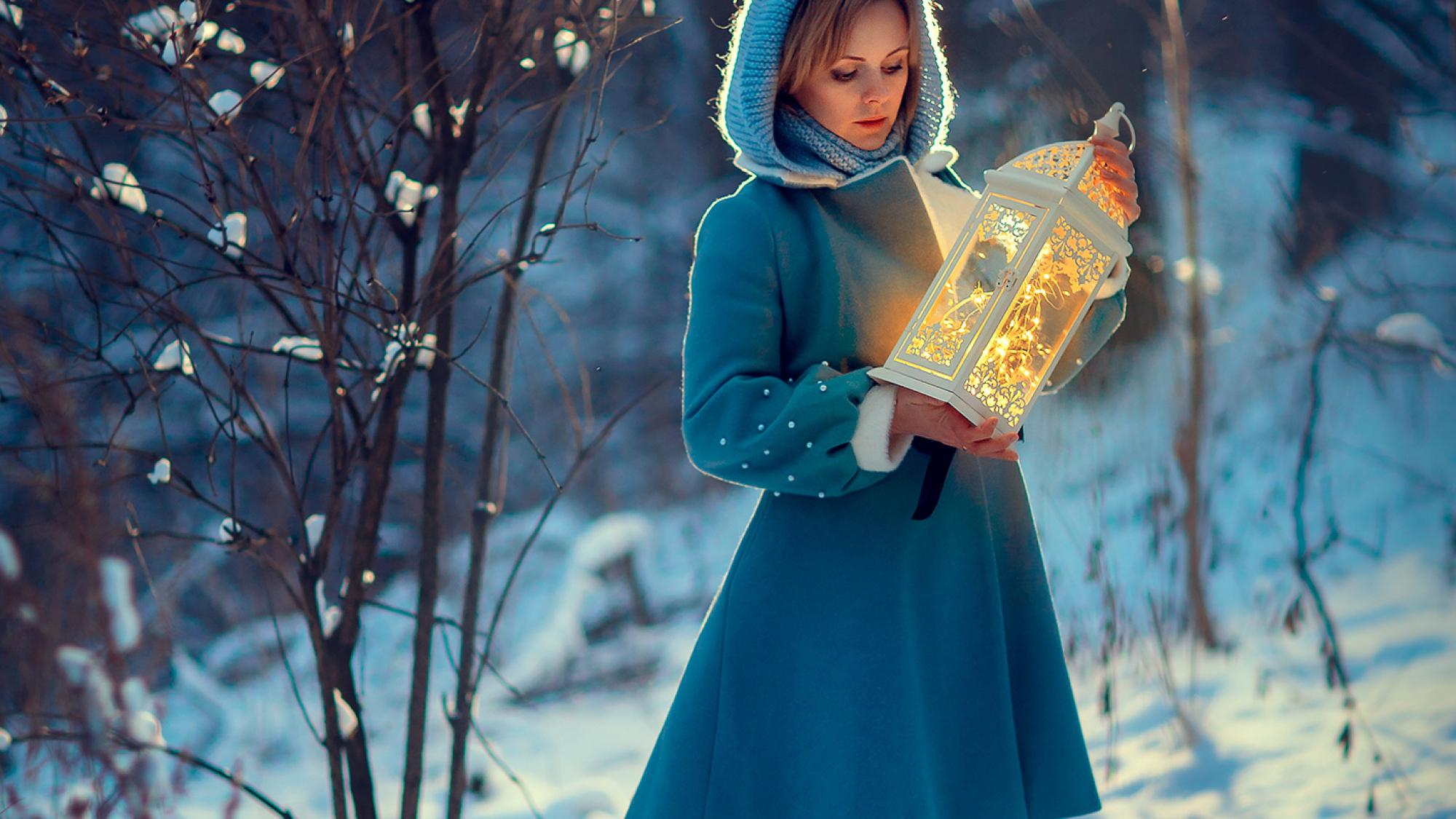 волшебная зимняя фотосессия для девушки
