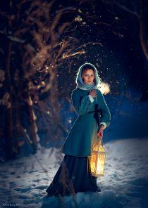 Волшебная зимняя фотосессия для женщин