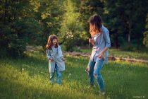 семейная фотосессия с детьми на природе