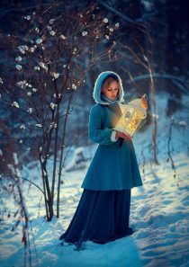 Зимняя фотосессия для девушки